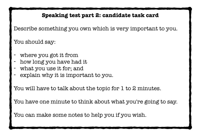 IELTS Speaking Part 2 Cue Card